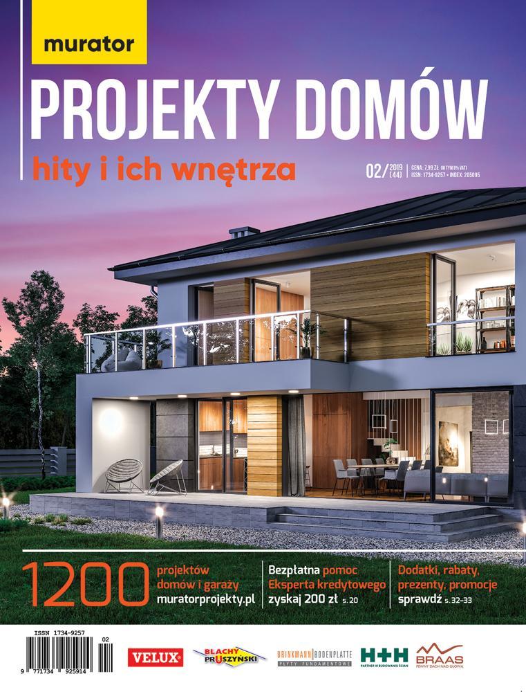 Katalog murator projekty domów 2/2019 Hity i ich wnętrza E-WYDANIE